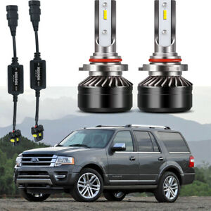 9005 Hb3 Led Headlight Bulb Kit 6500k With Decoder Fit Ford Expedition 2016 2015