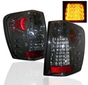 1999 2004 Jeep Grand Cherokee Limited Led Rear Tail Light Lamp Kit L R Smoke New