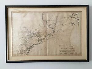 Antique Military Map Of East Nj To Maryland From Marshall S Washington S Life