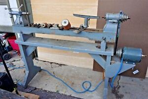 Vtg Rockwell Delta Double Duty Milwaukee Wood Lathe And Accessories working