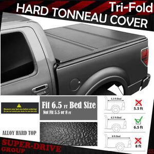 Lock Tri fold Hard Solid Tonneau Covers For 1997 2003 Ford F 150 6 5 Ft 78 Bed