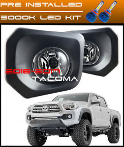2016 2017 Toyota Tacoma Led Fog Lights Clear Bumper Lamp Switch And Wiring Kit
