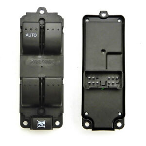 Power Window Switch For 2004 2009 Mazda 3 5 Button Drive Side Front Left Black