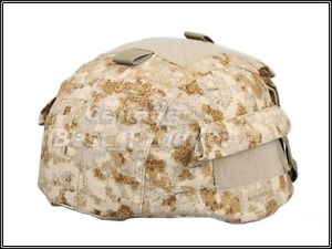 Airsoft Tactical MICH 2002 Nylon Helmet Cover With Back Pouch Multiple color SS