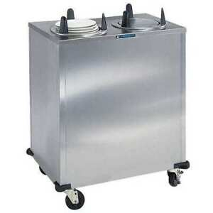 Non heated 2 stack Plate Dispenser Cabinet Fits Plates Up To 5 Lakeside 5200