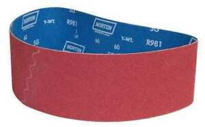 4 X 36 Coated Sanding Belt 60 Grit Pk10 Norton 78072701344