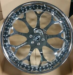 28 Forgiato Drea 3 piece Chrome Wheels 6x139 7 Escalade Yukon Suburban Qx80