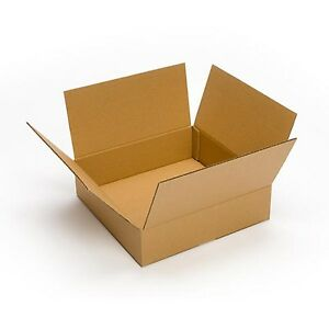 25 Pack 15x15x4 Cardboard Corrugated Box Packing Shipping Mailing Storage Flat