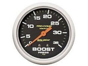 Auto Meter 5404 Pro Comp Liquid Filled Mechanical Boost Gauge 2 5 8 In