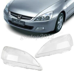 Car Headlight Headlamp Clear Lens Lenses Lamp Cover For Honda Accord 2003 2007