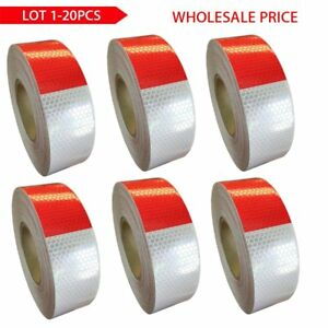 Houseables Reflective Dot Tape Roll Dot c2 150 X 2 Red white Trailer Reflector