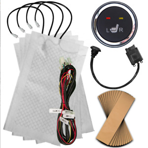 Sojoy New Universal Carbon Fiber Insert Heated Seat Kits 2 Seats