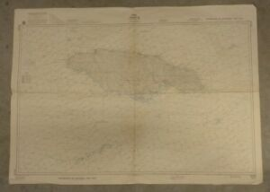 Vintage Nautical Chart Jamaica 1980 Us Defense Mapping Agency