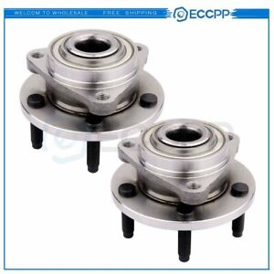 2 Front Wheel Hub And Bearing Assembly Pair Set Fits Chevrolet Hhr 06 08 No Abs