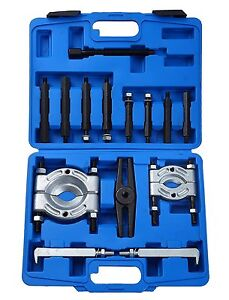 14pcs Bearing Separator Puller Set 2 And 3 Splitters Remove Bearings Kit