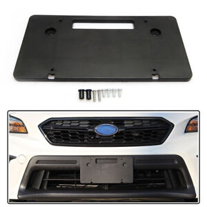 License Plate Bracket Kit For Subaru Wrx Forester 2015 2019 Round Bumper Holes