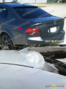 Unpainted K Style Rear Roof Spoiler For Acura Tl Iii 04 08