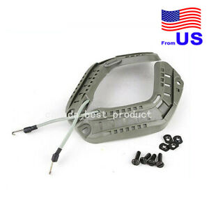 Tactical Airsoft FAST Helmet Side Rail ARC Accessories with Lanyard Gray USA $14.39