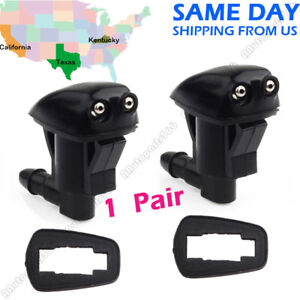 2 X Windshield Washer Nozzle Front 55079049aa For Jeep Grand Cherokee 2005 2010
