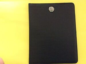 New Alabama Crimson Tide Black Leather Notebook Organizer Portfolio By Enmon