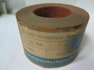 Carborundum Flexbac Waterproof Paper S c Roll 4 X 50yds Grit 280 Brand New