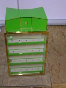 Kate Spade Retail Non Swivel Counter Top Green Gold Store Display