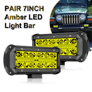 Work Cube Side Shooter Led Light Bar Spot Flood Driving Fog Pod 4 90w Cree X2
