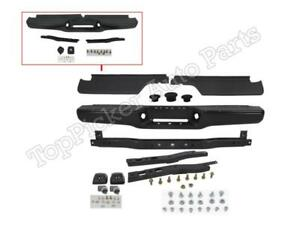 For 1993 1998 T100 Pickup Rear Bumper Black Face Bar With Hitch Pad Bracket 10pc