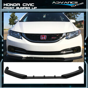 For 13 15 Honda Civic Sedan 4dr Ikon V3 Style Pu Front Lip