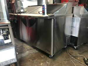 Turbo Air 60 Inch Commercial Prep Cooler Sub Station Refrigerator