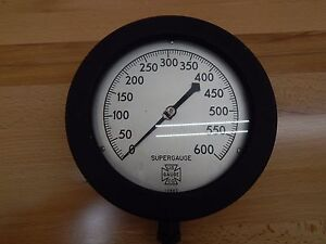 Us Gauge 60 1082ps 02l 600 Psi Pressure Gauge 0 To 600 Psi 7 1 2 In