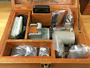 Moore Tools Air Slot Grinder Attachment With Original Wood Case And Accessories