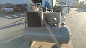 Used 15 hp Comp Air Open Design 80 Gallon Tank Mounted 230 460v 3 Phase