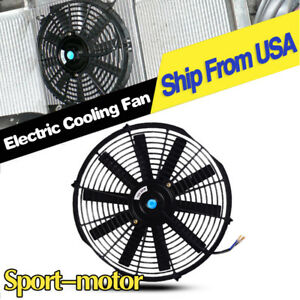 1x14in Push Pull Electric Radiator Cooling Fan Engine 2550cfm 80w For Mini Van