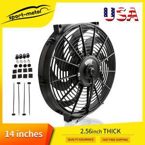 14 Universal Pull Push Slim Cooling Fan Electric Engine Radiator 2550cfm 12v