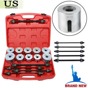 27pc Universal Press pull Sleeve Kit Bush Bearing Removal Insertion Tool Set Hp