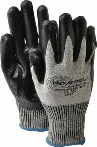 Hexarmor Size M 8 Ansi Cut Level A8 Puncture Level 5 Nitrile Coated Pol