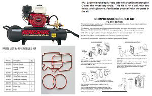 New Tg 550 Thomas Airpac Renegade Air Compressor Service Rebuild Kit 1916 1918