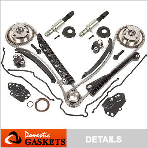 04 08 Ford Lincoln 5 4l 3v Timing Chain Kit cam Phasers cover Gasket solenoid