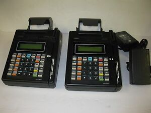 2 Hypercom cde 8 1600 07 Credit Card Machines With Power Cord free Shipping