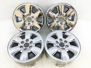 18 18 Inch Oem Factory Gm Sierra 1500 Denali Yukon Wheels Rims Chrome Clad 5418