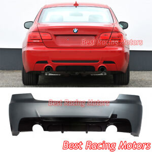 Performance Style Rear Bumper Dual Exhaust Fit 07 13 Bmw E92 2dr 3 Series 335i