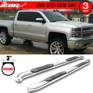 Fits 07 18 Chevy Silverado Gmc Sierra Crew Cab 3 Inch Side Step Running Boards