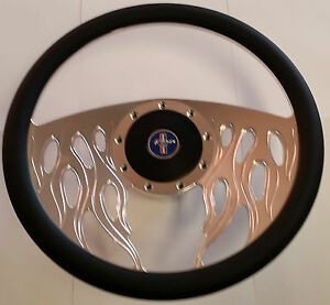 Mustang Steering Wheel Billet Leather 1971 1972 1973 Mach 1 Boss 351 Grande 302