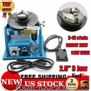 2 5 Rotary Welding Positioner Turntable Table Mini Jaw Lathe Chuck Pedal Us