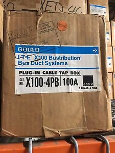 Gould X100 4pb 100a 3ph 4w 600v Ite X100 Busduct System Plug In Tap Box Surplus