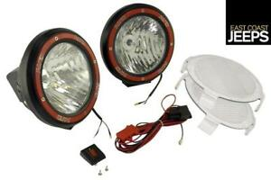 15205 54 Rugged Ridge 5 Inch Round Hid Off Road Fog Light Kit Black Composite H