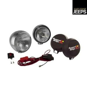 15206 52 Rugged Ridge 5 Inch Round Hid Off Road Fog Light Kit Stainless Steel H