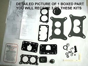 1959 80 Carb Kits Tri Power Ford Truck Holley Model 2300 Eth Tolerant New