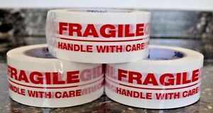 1 72 Rolls Fragile Handle With Care 2 X 55yds Security Sealing Tape 2in X 55yds